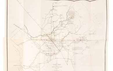 Rare road map of Fresno County California