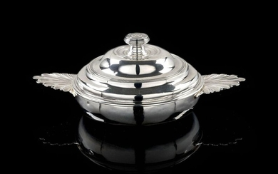 SILVER BOWL AND LID