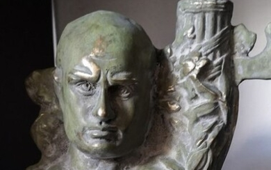 Sculpture, bust of the Duce - Bronze - First half 20th century