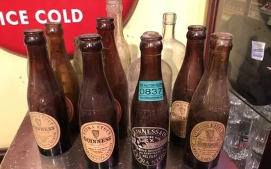 Selection of Vintage Bottles, Guinness with various Labels, ...