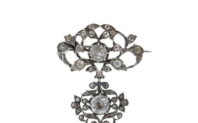Silver pendant with stones