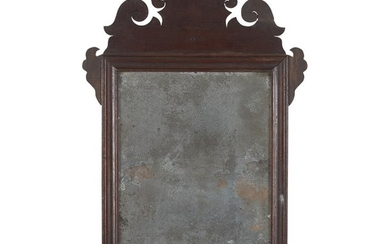 Small Chippendale mahogany looking glass 18th century H: 20...