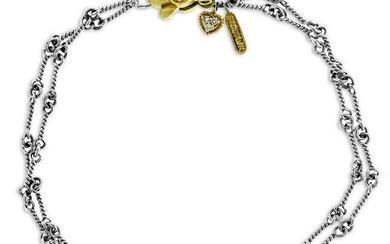Stambolian Two-Tone Gold Double-Link Hand Made Chain