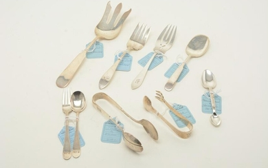 Sterling silver serving utensils and accessories, early