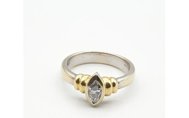 Stone set diamond and 18ct gold ring, having a third of a ca...