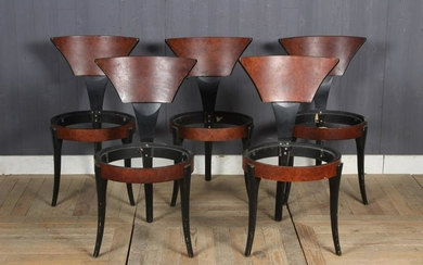 Suite of Memphis Style Dining Chairs