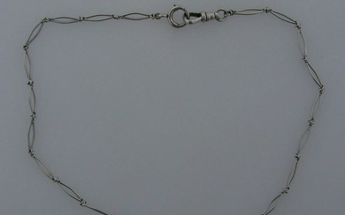 TIMELESS 14k White Gold Watch Chain