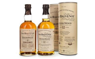 TWO BOTTLES OF BALVENIE DOUBLE WOOD 12