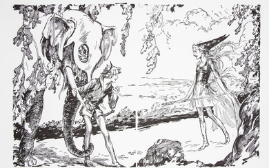 The Silver Princess in Oz Double-Page Spread