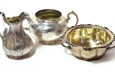 Three items of Victorian silver, including a butter-dish, by Stephen...