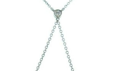 Tiffany and Co Diamond Heart Pendant Platinum Necklace