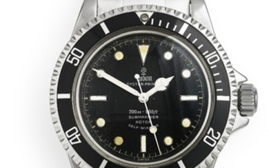 Tudor: A gentleman's wristwatch of steel. Model Submariner ''Gilt'', ref. 7928. Mechanical movement with automatic winding, cal. 390. 1960s.