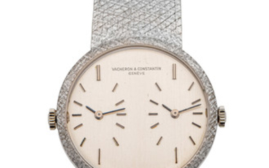 VACHERON CONSTANTIN, REF. 7876, DUAL TIME, WHITE GOLD
