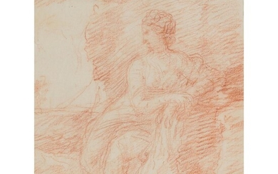 WILLIAM HOARE OF BATH (BRITISH 1707-1792) SKETCH OF A SEATED LADY