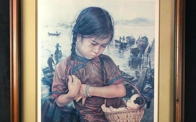 Wish You Had Life Framed Artist Proof Lithograph by Wai