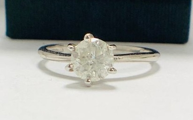 1.01ct diamond solitaire ring set in 18ct white...