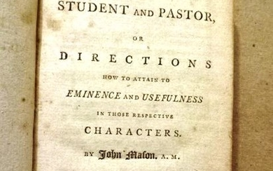 1794 The Student and the Pastor or Directions How to