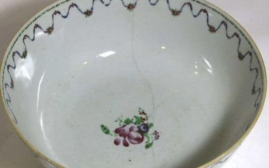 18TH C CHINESE ANTIQUE EXPORT LARGE SERVING BOWL