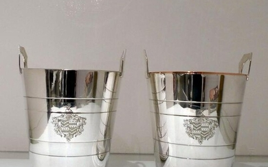 19th Century Antique Victorian Silverplated Pair Wine