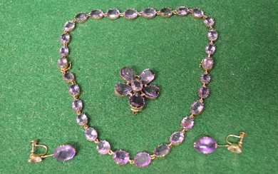 19th century gold amethyst riviere necklace the thirty oval ...