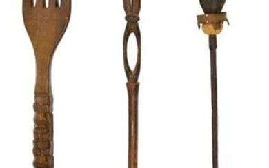 (3) GROUP: AFRICAN DECORATIVE/ CEREMONIAL ITEMS