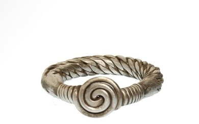 Viking Solid Silver Plaited Ring, c. 9th - 11th century
