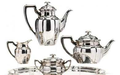 5 pc. German .800 Silver Tea & Coffee Service