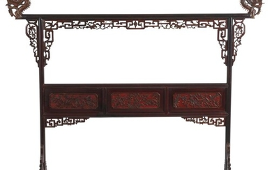A CHINESE LACQUERED ROBE RACK QING DYNASTY (1644-1912), 19TH CENTURY