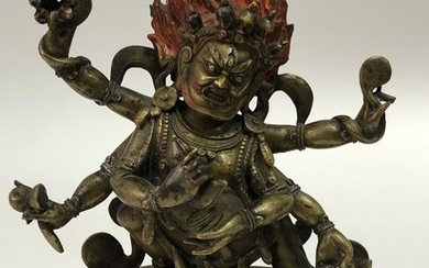 A Copper Alloy Figurine of Mahakala.