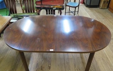 A Danish Skovby rosewood dining room suite, comprising a dis...