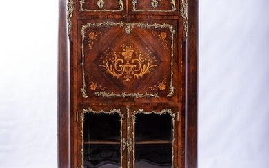 A FRENCH KINGSWOOD AND GILT-METAL MOUNTED CABINET, 19TH
