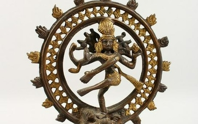A GOOD 20TH CENTURY INDIAN BRONZE FIGURE OF SHIVA, each