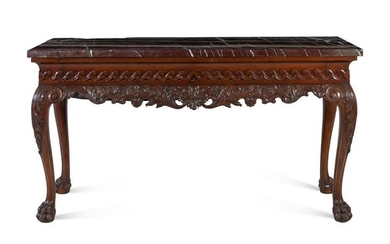 A George II Style Carved Mahogany Console Table
