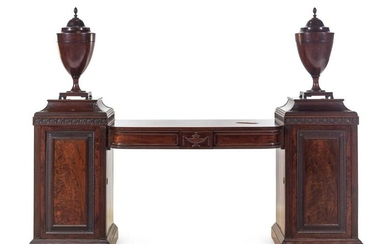 A George III Carved and Figured Mahogany Double