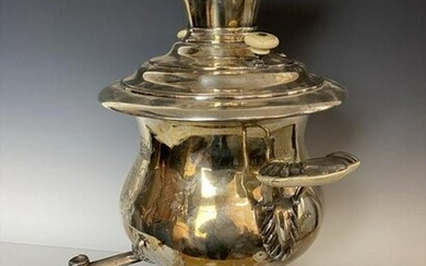 A LARGE FRENCH SILVER PLATED SAMOVAR BY A. FRENAIS