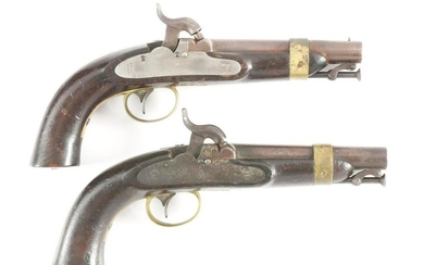 (A) LOT OF TWO: BOXLOCK MODEL 1843 US NAVY CIVIL WAR