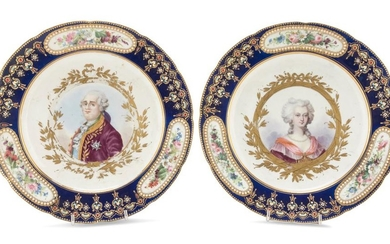 A PAIR OF PORCELAIN DISHES SEVRES EARLY 19TH CENTURY