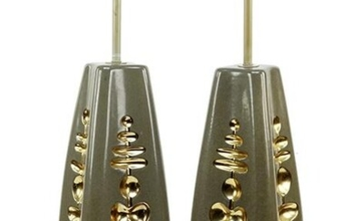 A Pair of Mid-Century Ceramic Table Lamps.