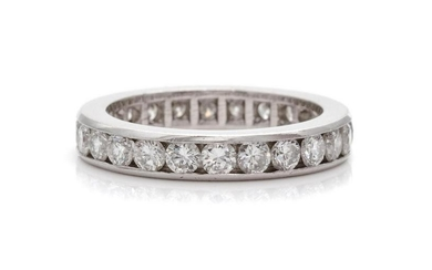 A Platinum and Diamond Eternity Band,