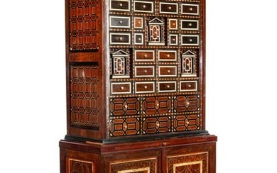 A Portuguese Marquetry Cabinet on Stand