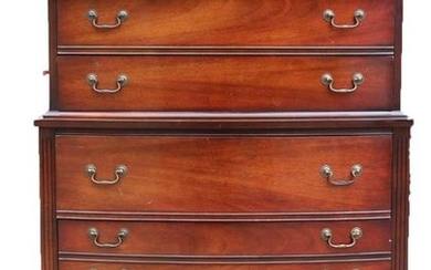AMERCIAN VINTAGE MAHOGANY TALL CHEST OF DRAWERS