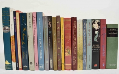 [Alice in Wonderland] Lot with 21: The Complete Illustrated Works of Lewis Carroll