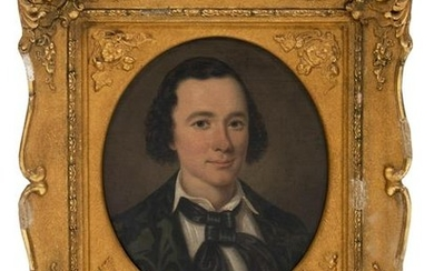 American School (19th Century) Portrait of a Young