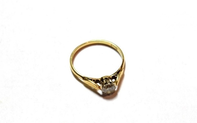 An 18 carat gold round brilliant cut diamond solitaire ring,...