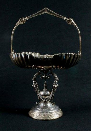 Ancient Victorian Silver Plated Compote Made By Wilcoax