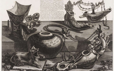 Antiquities .- Piranesi (Giovanni Battista) [Roman antiquities, ryhtons and other vessels], [c. 1750-1770]