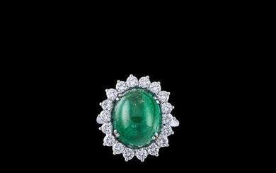 A Brilliant and Emerald Ring