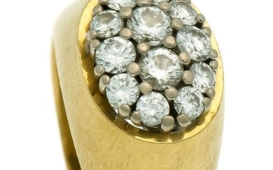 Brilliant ring GG 750/000 with 12 diamonds, total...