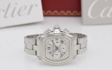 CARTIER gents wristwatch Roadster XL chronograph, self...
