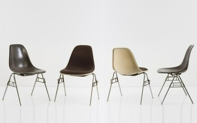 Charles Eames , Set of four chairs 'Plastic Side Chair